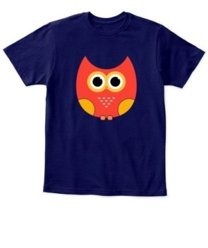 cartoon owl, Kid's Unisex Round Neck T-shirt