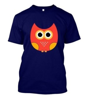 cartoon owl, Men's Round T-shirt