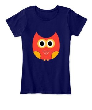 cartoon owl, Women's Round Neck T-shirt
