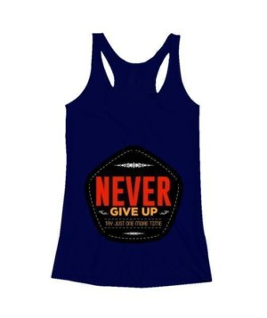 never give up, Men's Polo Neck T-shirt