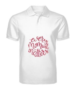 Every Moment Matters. Make it count, Men's Polo Neck T-shirt