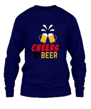 Cheers To Beer, Men's Long Sleeves T-shirt