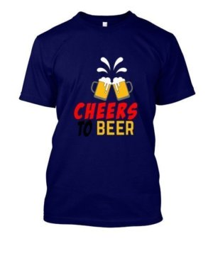 Cheers To Beer, Men's Round T-shirt