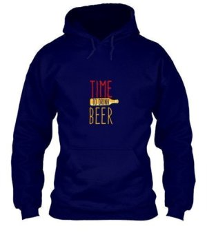 time to drink beer, Men's Hoodies