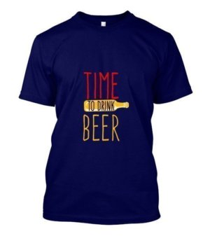time to drink beer, Men's Round T-shirt