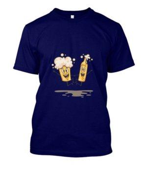 Beer Design Tshirt, Men's Round T-shirt