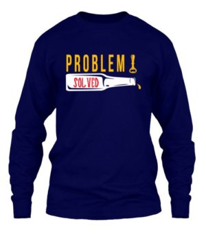 Poblem Solved. Just Chill, Men's Long Sleeves T-shirt