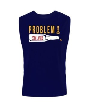 Poblem Solved. Just Chill, Men's Sleeveless T-shirt