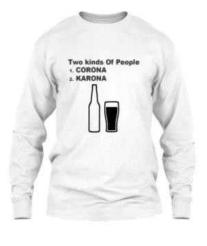Corona vs Karona, Men's Long Sleeves T-shirt