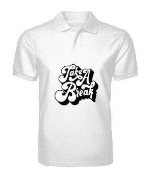 Take a break, Men's Polo Neck T-shirt