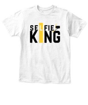 Selfie King Tshirts and Hoodies, Kid's Unisex Round Neck T-shirt