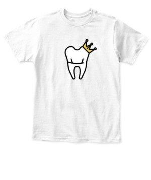 Dentist King and Queen Tshirts, Kid's Unisex Round Neck T-shirt
