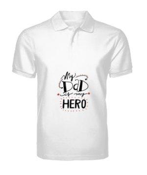 My Super Hero, Men's Polo Neck T-shirt