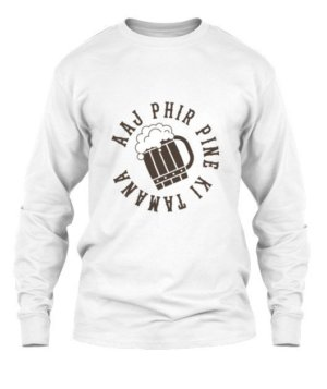 Aaj Phir Pine Ki Tamanna Hai, Men's Long Sleeves T-shirt
