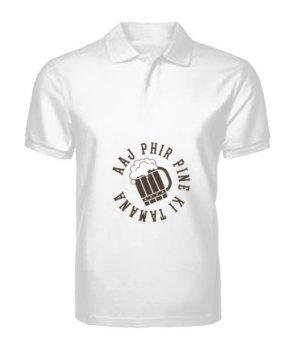 Aaj Phir Pine Ki Tamanna Hai, Men's Polo Neck T-shirt