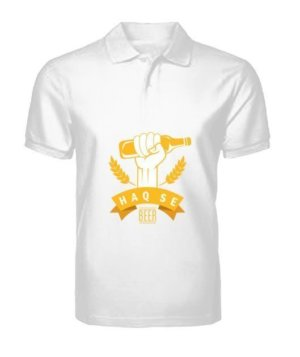 Haq Se Beer, Men's Polo Neck T-shirt