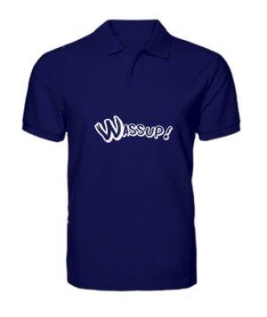 wassup tshirt, Men's Polo Neck T-shirt