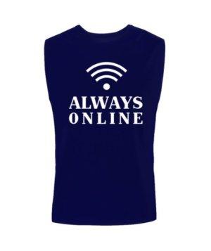 Always online t-shirt, Men's Sleeveless T-shirt