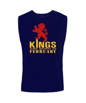 KINGS are born in February, Men's Round T-shirt