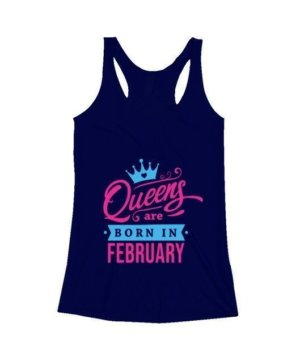 Queens are born in February, Women's Tank Top