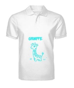 Giraffe t-shirt, Men's Polo Neck T-shirt