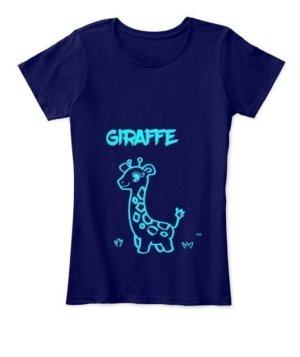 Giraffe t-shirt, Women's Round Neck T-shirt