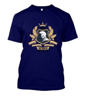 Kings are born in March, Kid's Unisex Round Neck T-shirt