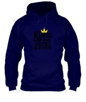 Kings are born in March, Men's Round T-shirt