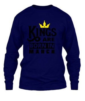 Kings are born in March, Men's Hoodies