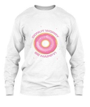 Donut Worry Be Happy- tshirt, Men's Round T-shirt
