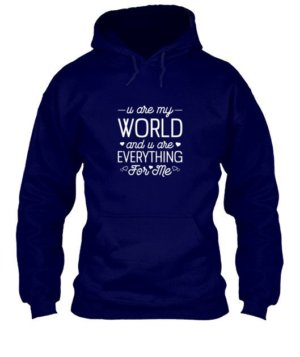 u are my world- tshirt, Men's Hoodies