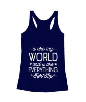 u are my world- tshirt, Women's Tank Top