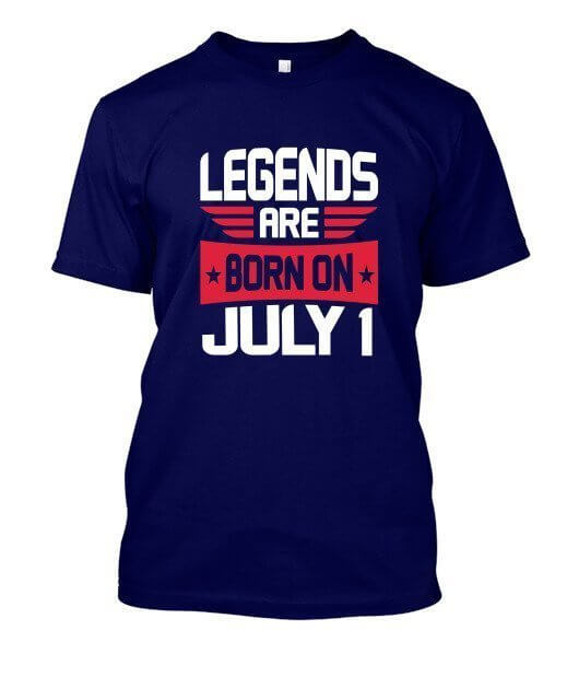 Legends are born on July 1 – 31, Men's Round T-shirt