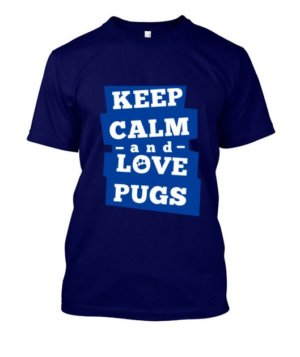 Keep calm and love pugs, Men's Round T-shirt
