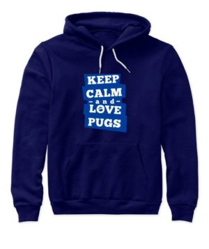 Keep calm and love pugs, Women's Hoodies