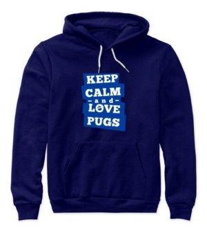 Keep calm and love pugs, Men's Long Sleeves T-shirt