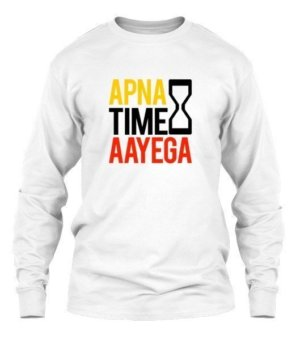 Apna time aayega, Men's Long Sleeves T-shirt