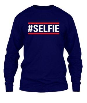 Selfie tshirt, Men's Long Sleeves T-shirt