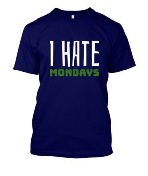 I hate mondays, Men's Long Sleeves T-shirt