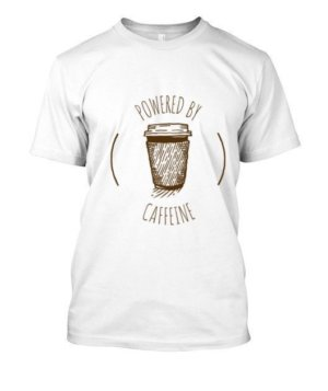 Powered By Caffeine, Men's Round T-shirt