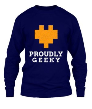 Proudly Geek, Men's Long Sleeves T-shirt