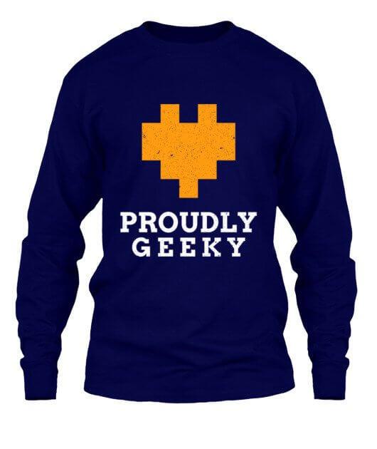 Proudly Geek, Men's Long Sleeves T-shirt