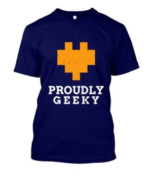 Proudly Geek, Men's Round T-shirt