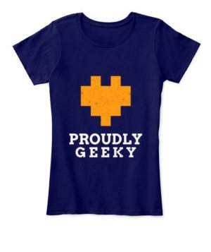 Proudly Geek, Women's Round Neck T-shirt
