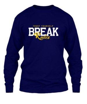 BREAK Rules, Men's Long Sleeves T-shirt