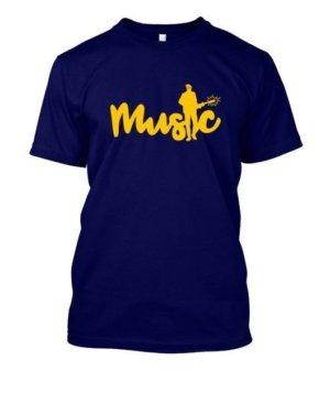 Music, Men's Round T-shirt