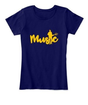 Music, Women's Round Neck T-shirt