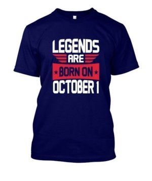 Legends are born on October 1 – 31, Men's Round T-shirt