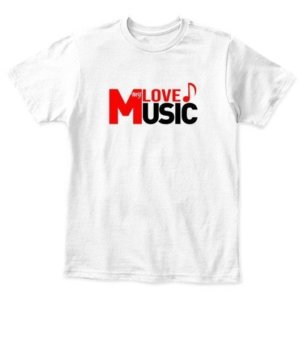 LOVE my MUSIC, Kid's Unisex Round Neck T-shirt