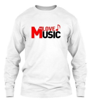 LOVE my MUSIC, Men's Long Sleeves T-shirt